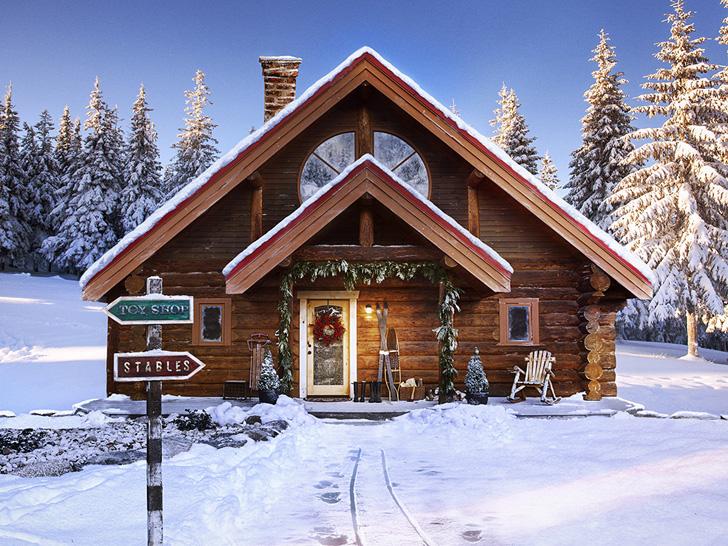 Сказочный домик Деда Мороза на Северном полюсе | Пуфик - блог о дизайне интерьера