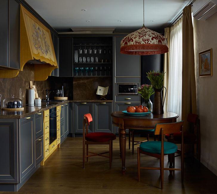 интерьер квартиры Интерьер квартиры с историей и восточными мотивами в Москве (93 кв. м) 21 1