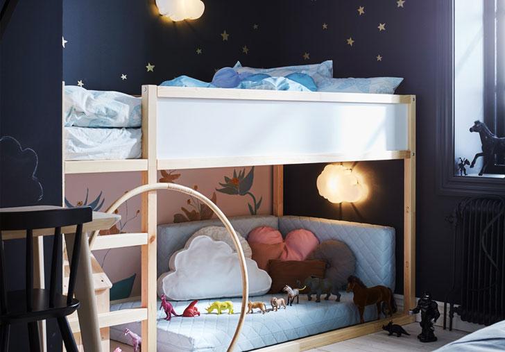 Когда делишь комнату с детьми - советы ИКЕА
