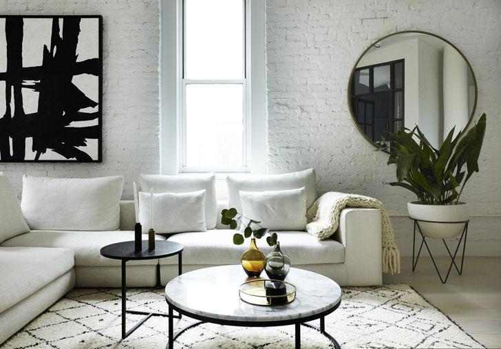 Scandinavian Loft In New York Loft Interior In White
