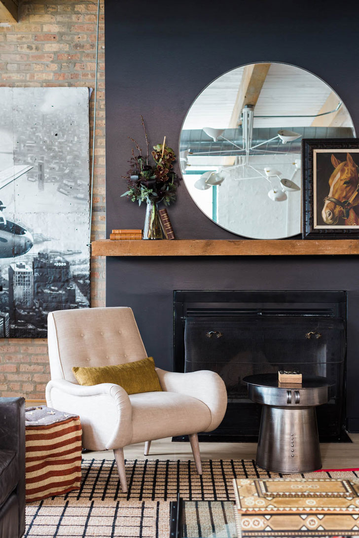 Cool bohemian loft in old factory building in chicago with - Table factory maison du monde ...