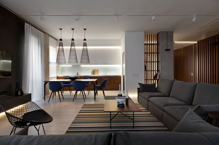 Minimalist Apartment In Dnipro Ukraine By Nott Design PUFIK Best Apartment Design Online Minimalist