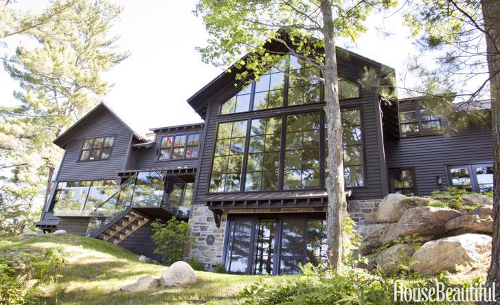 дом в канаде на берегу озера