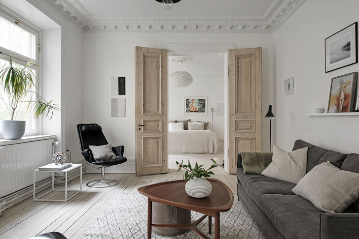 Gentil ... Design Concept Is Built On The Gorgeous Massive Wooden Doors Of A  Natural Shade That Are A Highlight Of The Home And The Thing Everyone Pays  Attention ...