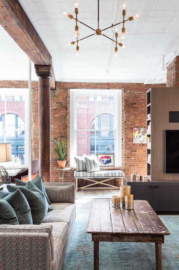 Cool loft in soho pufik beautiful interiors online for Loft soho new york