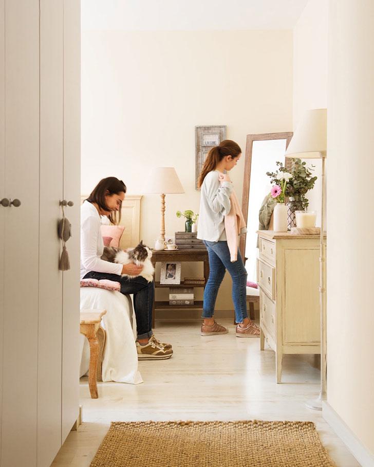 Нежный интерьер квартиры с террасой в Испании   girly small home in spain pufikhomes 10