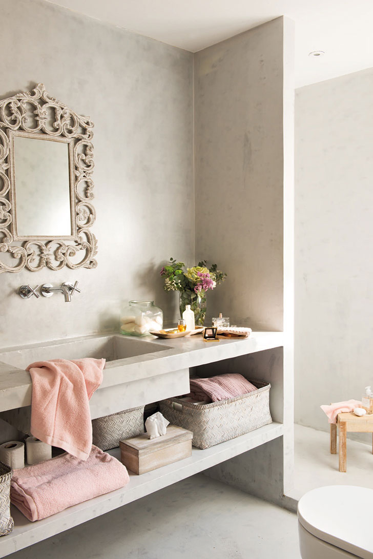 Нежный интерьер квартиры с террасой в Испании   girly small home in spain pufikhomes 11