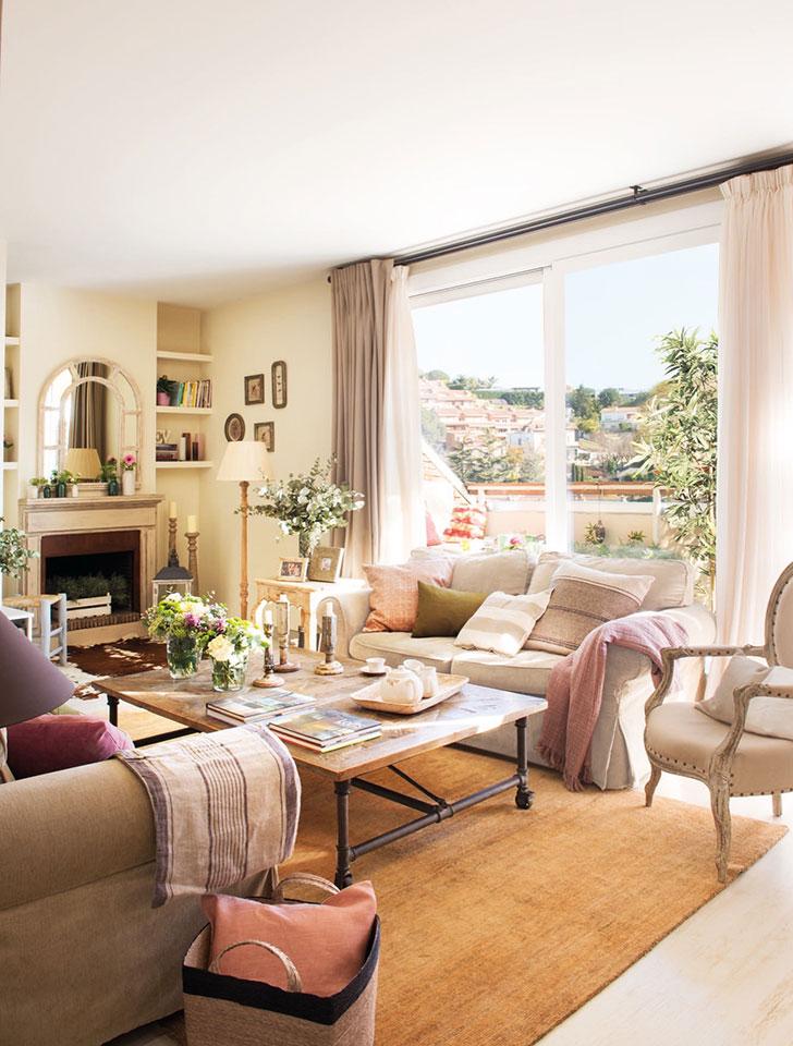 Нежный интерьер квартиры с террасой в Испании   girly small home in spain pufikhomes 3