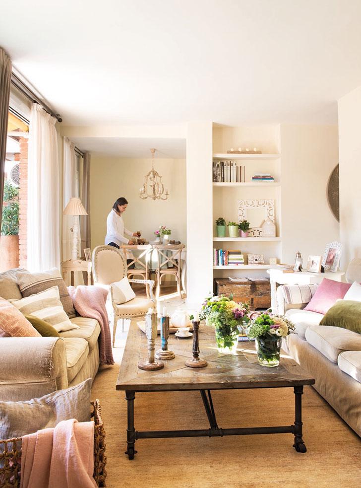 Нежный интерьер квартиры с террасой в Испании   girly small home in spain pufikhomes 4