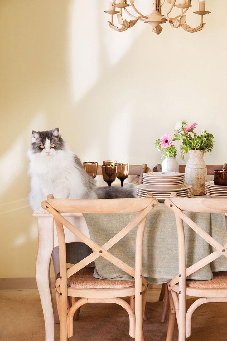 Нежный интерьер квартиры с террасой в Испании   girly small home in spain pufikhomes 6