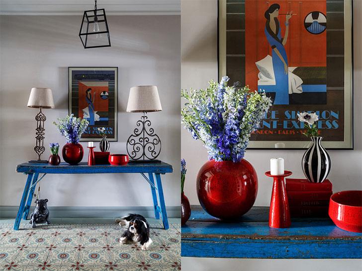 Винтаж и цвет: еще один сочный интерьер от Нади Зотовой
