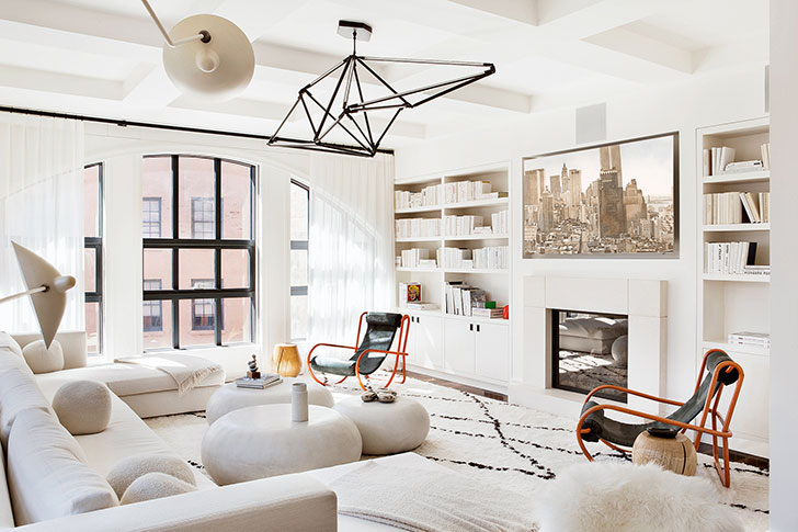 Modern New York apartment with milky interiors 〛 ◾ Photos ...