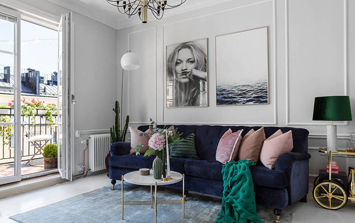 Swedish Apartment With Touches Of Modern American Style 〛 Фото Идеи Дизайн