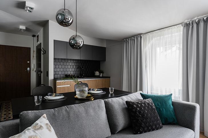 Smart Layout And Stylish Design Of A Small Apartment In Poland 36 Sqm Foto Idei Dizajn