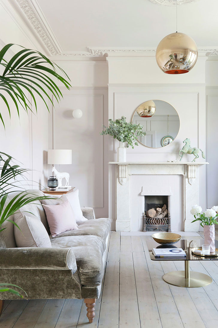 In this london townhouse designers revealed a wonderful mix of original textures light color tones antique furniture and bright accessories