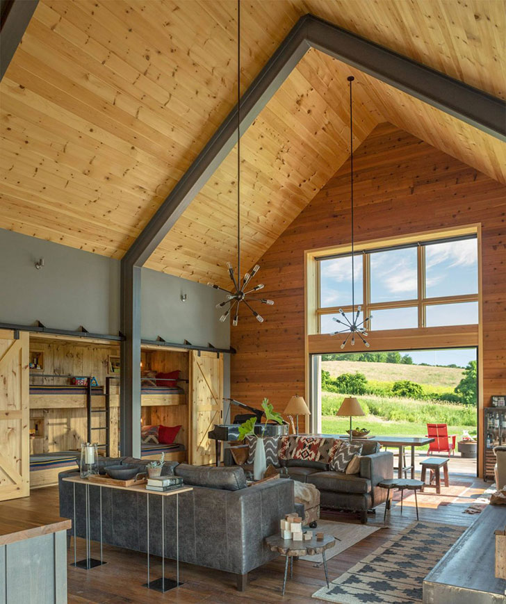Modern Barn For A Family In Vermont, USA 〛 Фото Идеи Дизайн