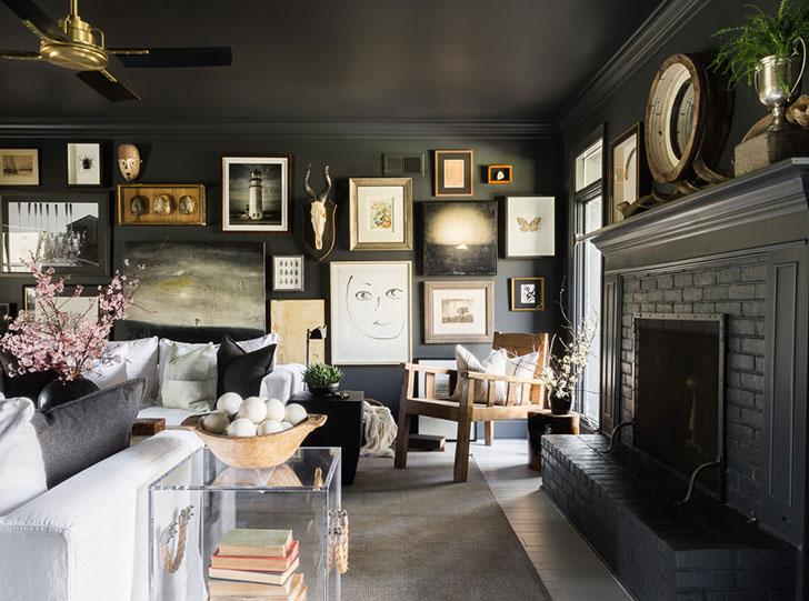 Драматичный интерьер дома дизайнера в Мемфисе