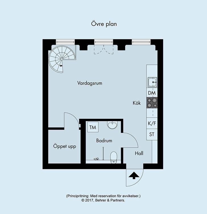 Белоснежная квартира в два уровня (72 кв. м)