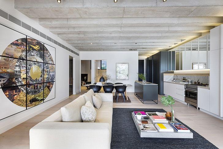 Безупречный современный дизайн апартаментов в Сиднее