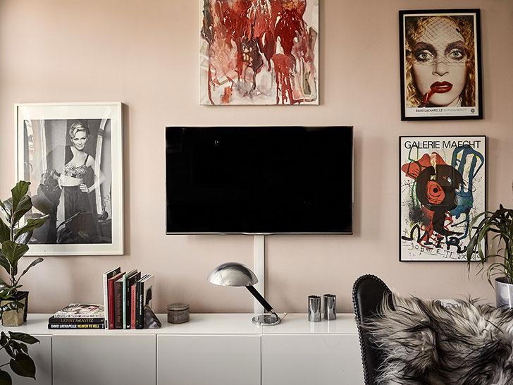Стильная женственная квартира с нотками гламура в Швеции (60 кв. м)