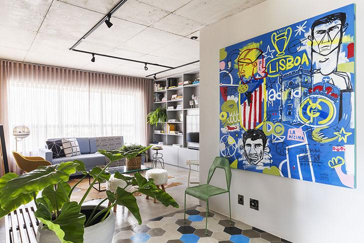 Современная квартира журналиста в Сан-Пауло (75 кв. м)