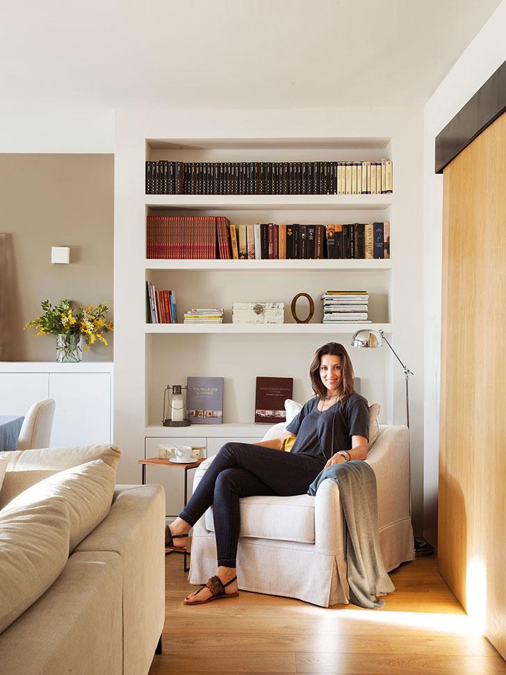 Теплая квартира с террасой в Барселоне