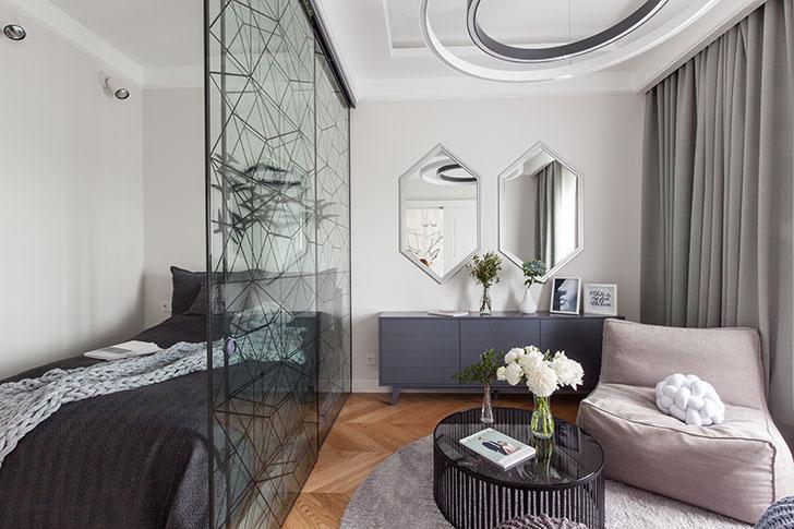 Комфортная современная квартира для молодой девушки в центре Санкт-Петербурга (48 кв. м)