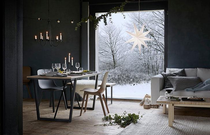 фотография посуды и набора черных подсвечников IKEA