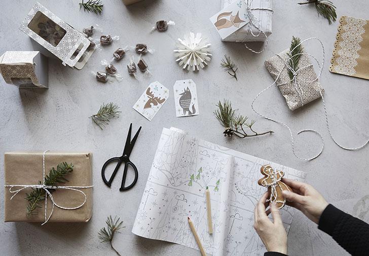 Оберточная бумага Икеа для упаковки подарков - фото