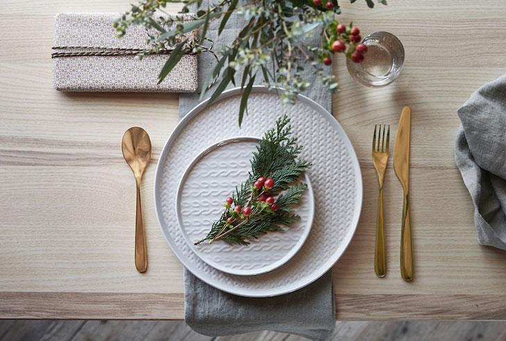 Белые тарелки ikea - фото