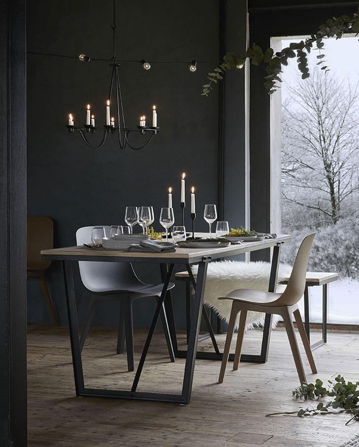 Фото - Черный железный канделябр IKEA Воссад на 10 свечей