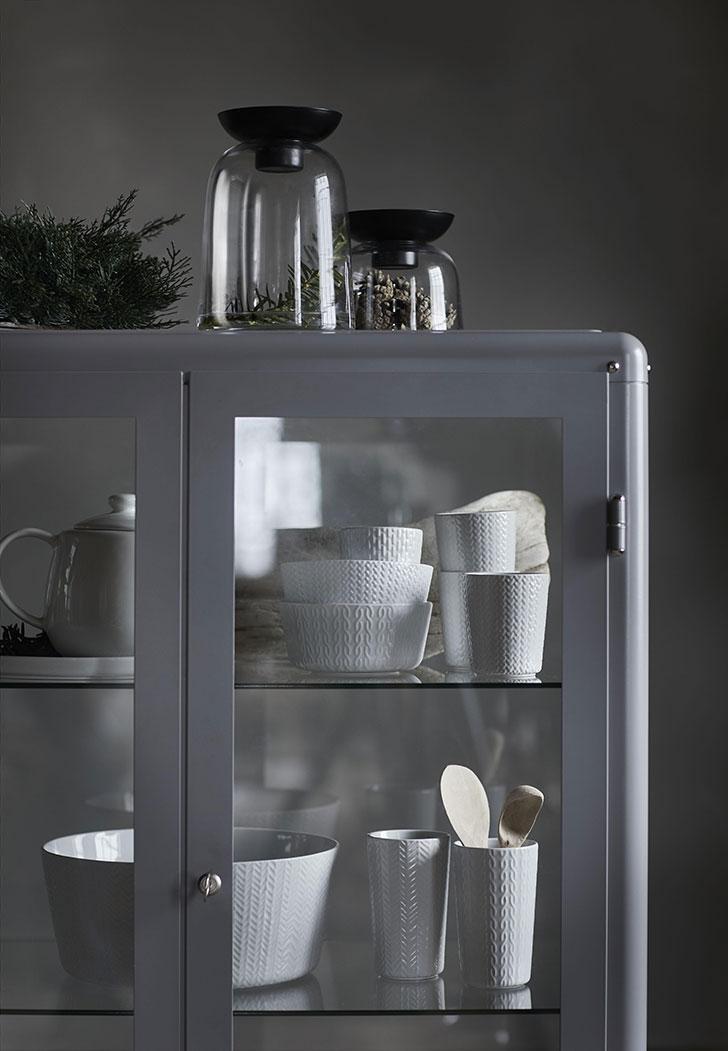 Набор белой посуды Ikea Винтер - фото