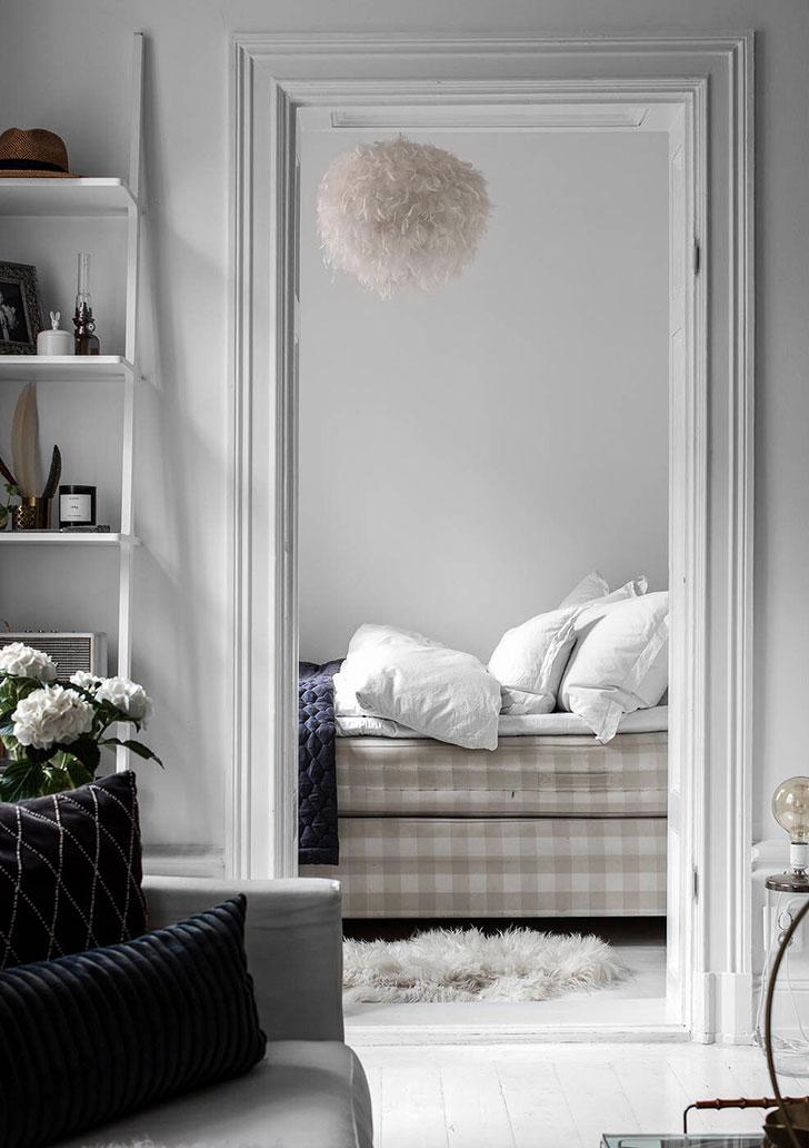 feminine apartment in white stockholm pufikhomes 10a Женственный белоснежный интерьер | Роскошь и уют Фото