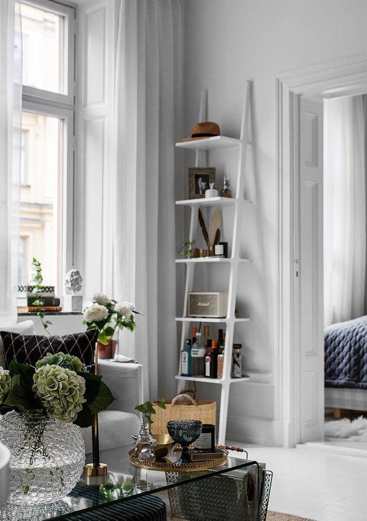 feminine apartment in white stockholm pufikhomes 4a Женственный белоснежный интерьер | Роскошь и уют Фото