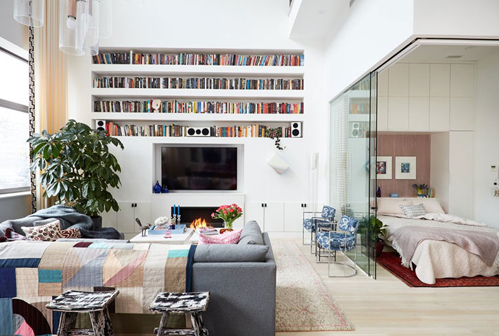 Cool Design Of Two Level Apartment In New York