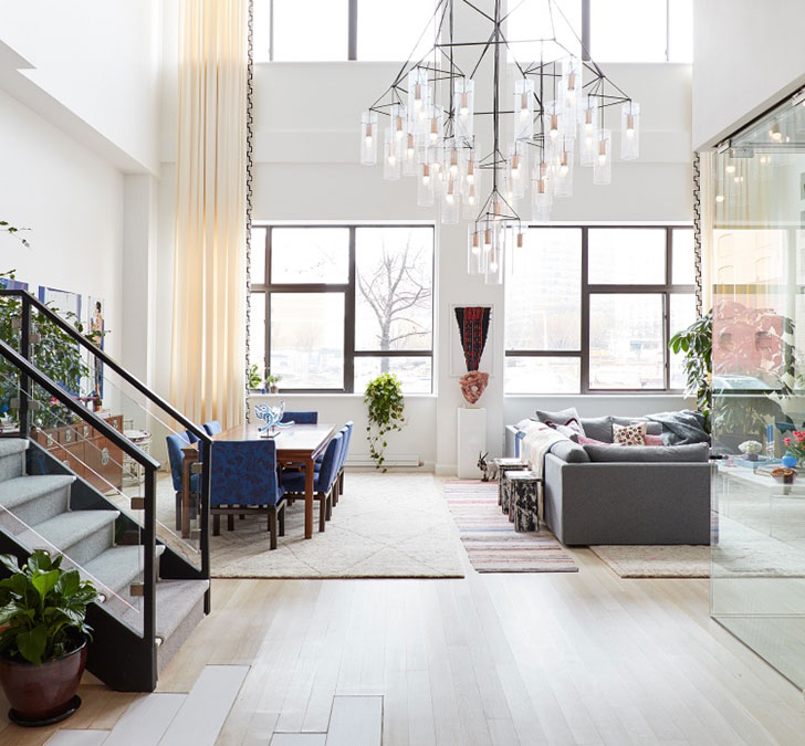 13 Stunning Apartments In New York: Cool Design Of Two-level Apartment In New York