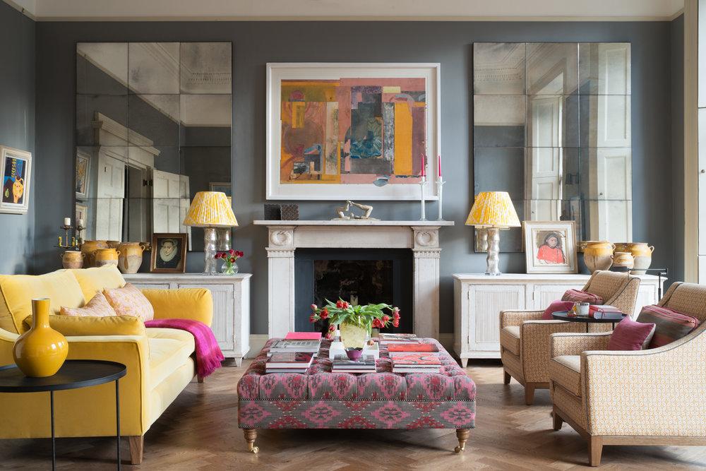 Красочный и в то же время элегантный интерьер квартиры в Эдинбурге