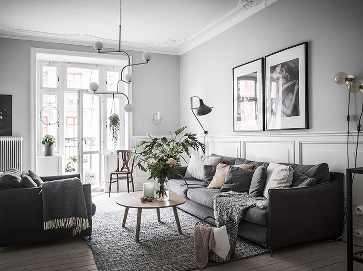 Gray Still In Trend Stylish Apartment In Stockholm Pufik - Sleek-and-beautiful-apartment-in-sweden