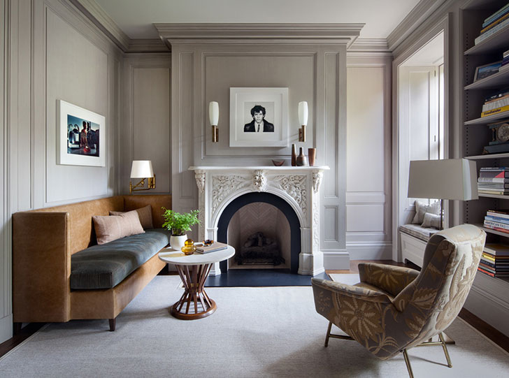 West village brownstone in new york pufik beautiful for New york brownstone interior design