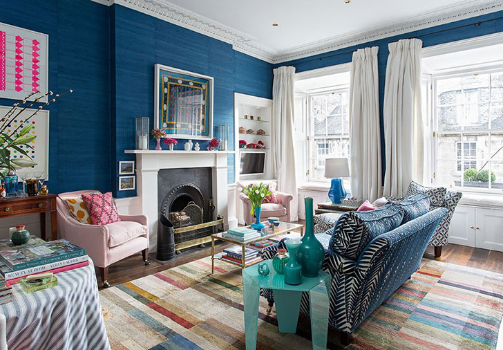 Красочный классический интерьер в Эдинбурге