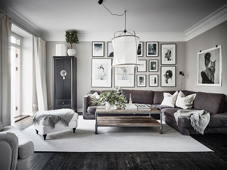 Lovely Scandinavian Apartment With Home Library In Sweden 95 Sqm