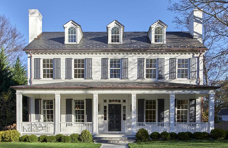 Современный дом в колониальном стиле в Вашингтоне