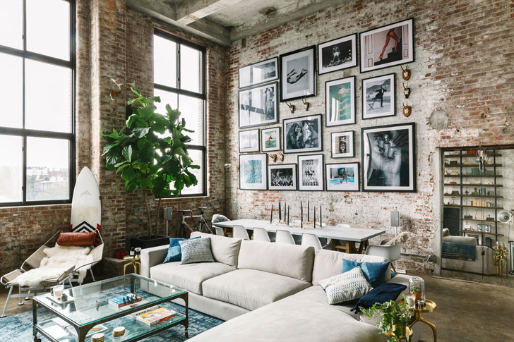 decoration interieur vintage moderne loft turquoise vintage d salon en styles en photos When you are in a loft interior, you can easily see the opposite corner of  the room. In such an industrial space, only a bathroom, a bedroom and  utility ...