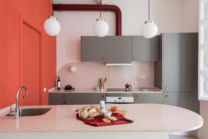 Неожиданная Барселона: пастельная квартира дизайнера одежды (65 sqm)
