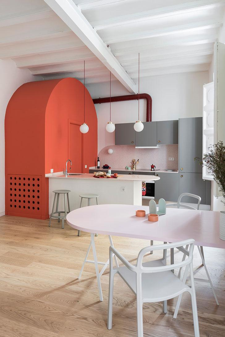 Unexpected Barcelona Art Deco Inspired Apartment Of A Fashion Designer 65 Sqm Foto Idei Dizajn