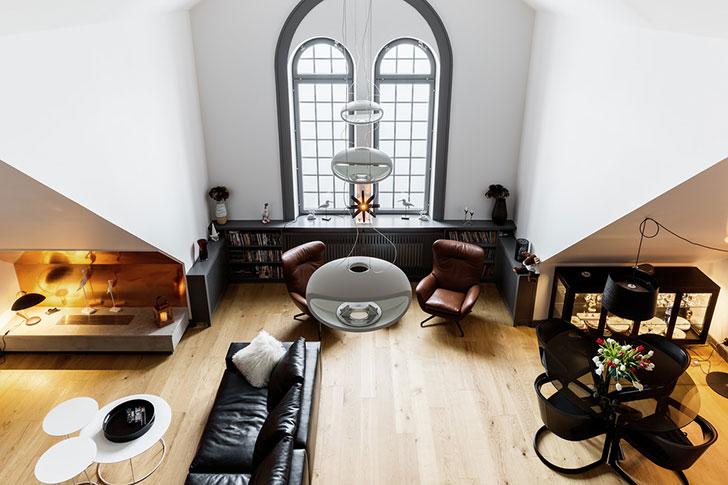 Великолепный скандинавский лофт в Стокгольме