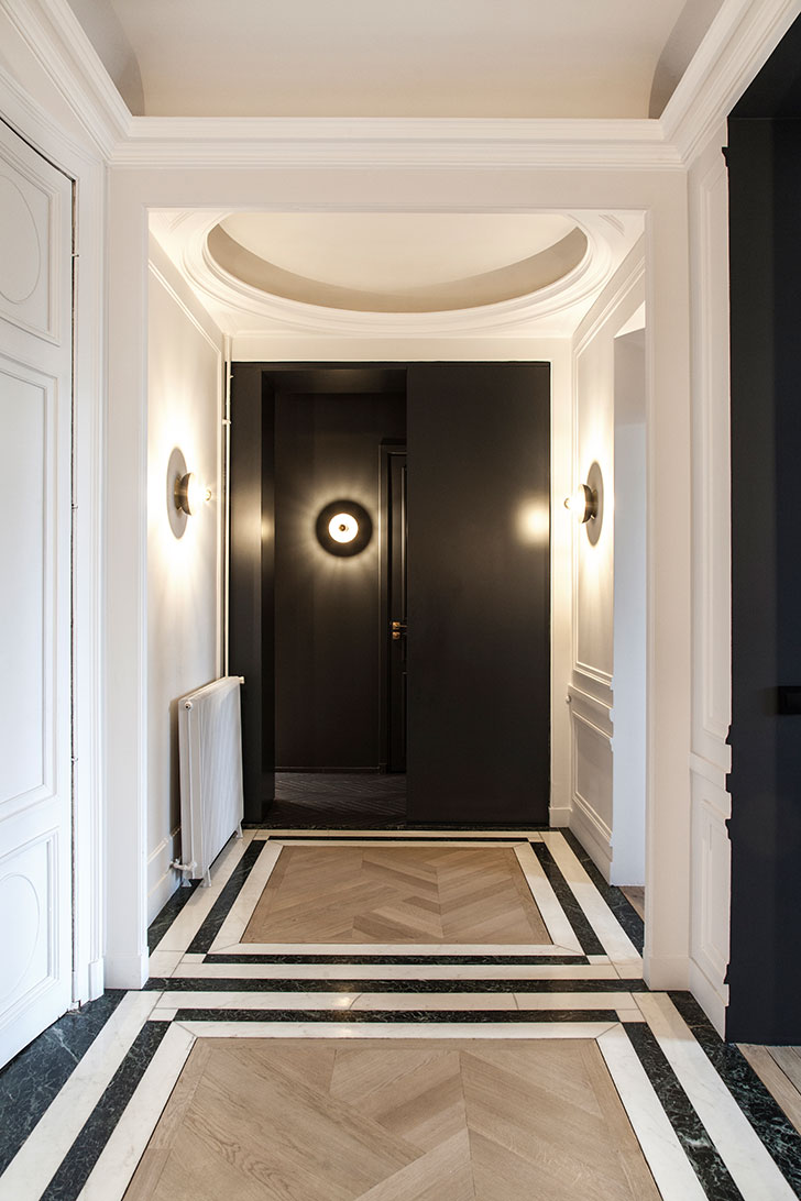 An interesting home that combines several trends in modern design see another charming paris apartment decorated in white