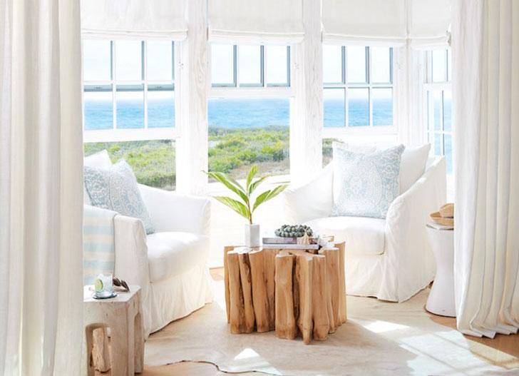 """Белый """"замок"""": дом во Флориде с белоснежным интерьером в морской тематике"""