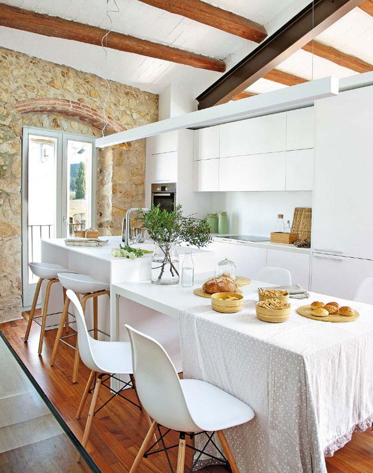 кухня в средиземноморском стиле - фото