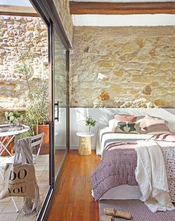 спальня в средиземноморском стиле - фото